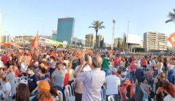 Otv: الساحة امتلأت بالمشاركين بذكرى 13 تشرين وقد لن يتّسع المكان لاستيعاب كثافة الحشود المتدفقة