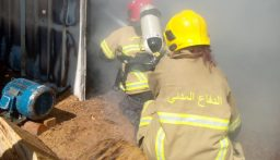 حريق داخل منشرة للاخشاب في كسارة-زحلة