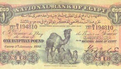 بيع ورقة نادرة من جنيه الجملين المصري بـ10 آلاف إسترليني!