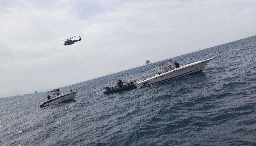 اعمال البحث عن المفقودين مستمرة بين ٣٠ و٣٥ متراً في البحر