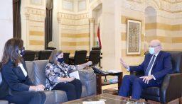 ميقاتي يلتقي في هذه الأثناء نائبة وزير الخارجية الأميركي للشؤون السياسية بحضور السفيرة الأميركية