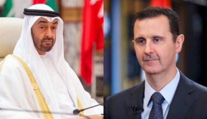 الأسد بحث الأوضاع في سوريا والشرق الأوسط مع ولي عهد أبوظبي